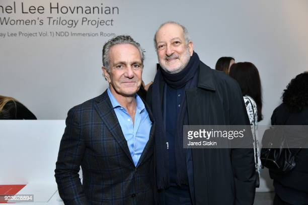 """Ara Hovnanian and Enrique Norten attend Rachel Lee Hovnanian """"The Women's Trilogy Project"""" Part 1: NDD Immersion Room at Leila Heller Gallery on..."""