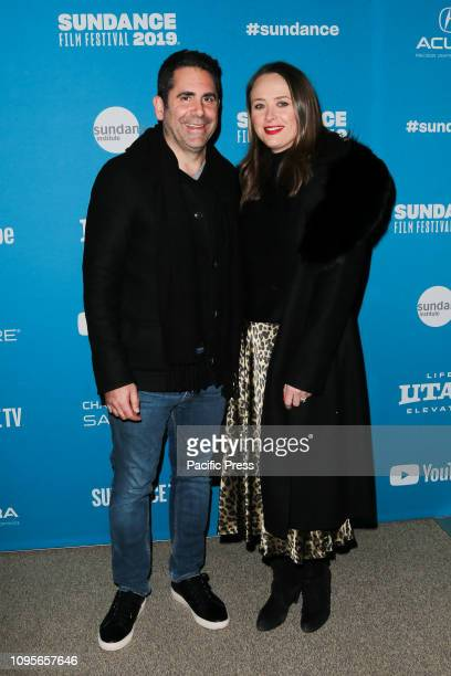 Ara Keshishian and guest attend the Extremely Wicked Shockingly Evil and Vile premiere at Eccles Theater during the 2019 Sundance Film Festival in...