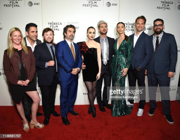Ara Keshishian Haley Joel Osment Joe Berlinger Lilly Collins Zac Efron Angela Sarafyan Michael Werwie and Michael Simkin attend Extremely Wicked...