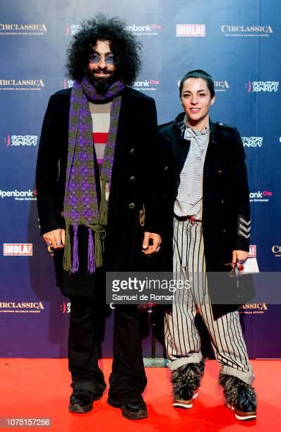 Ara Malikian and Natalia Moreno attend 'CIRCLASSICA Una Historia de Emilio Aragon' Photocall at Ifema on November 30 2018 in Madrid Spain