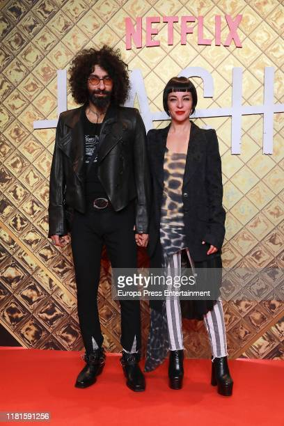 Ara Malikian and Natalia Moreno attend 'Hache' premiere by Netflix at Paz Cinema on October 16 2019 in Madrid Spain