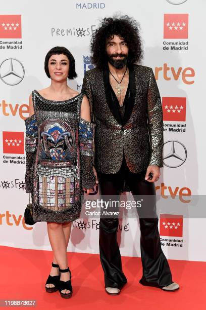 Ara Malikian and Natalia Moreno attend the red carpet during 'Jose Maria Forque Awards' 2020 at Ifema on January 11 2020 in Madrid Spain
