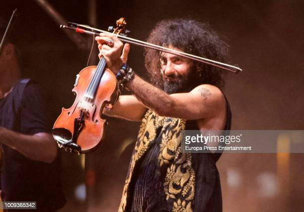Ara Malikian performs during his concert at Port Adriano on August 1 2018 in Palma de Mallorca Spain