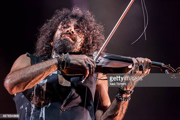 Ara Malikian performs on stage at Gran Teatre del Liceu on March 26 2015 in Barcelona Spain