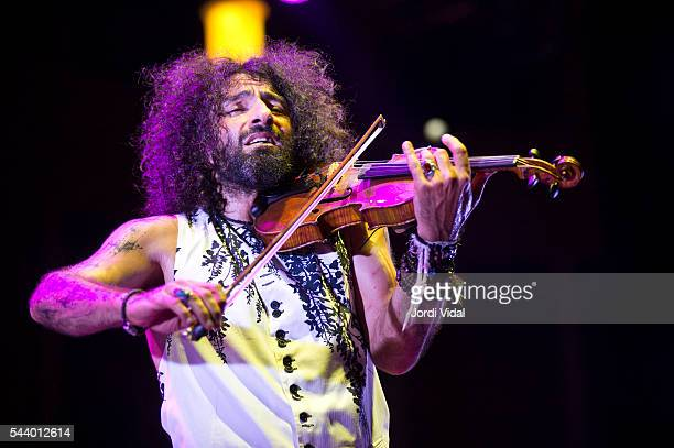 Ara Malikian performs on stage during Festival Jardins del Palau de Pedralbes at Jardins Palau de Pedralbes on June 30 2016 in Barcelona Spain