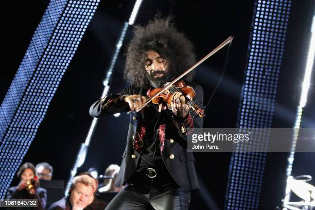 Ara Malikian performs onstage at the Person of the Year Gala honoring Mana during the 19th annual Latin GRAMMY Awards at the Mandalay Bay Events...