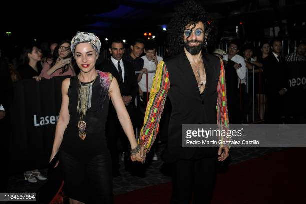 Ara Malikian poses on the red carpet during the inauguration of the 34th Guadalajara International Film Festival at Centro Telex on March 8 2019 in...