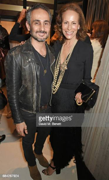 Ara Vartanian and Andrea Dellal attend the launch of the KATE MOSS X ARA VARTANIAN collection on May 17 2017 in London England