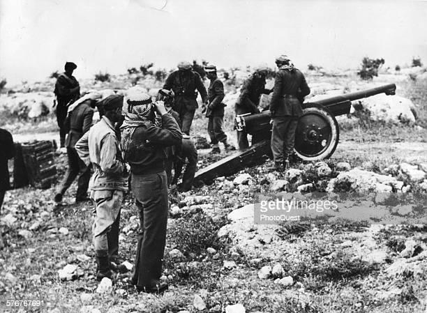 Arab artillery in position near Jerusalem