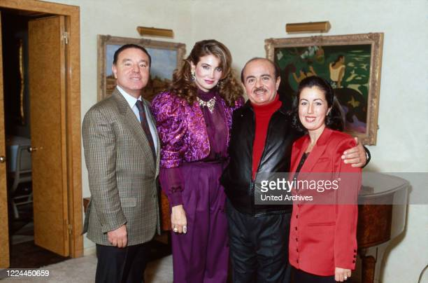 Arab business man Adnan Kashoggi with his wife Lamia at New York, USA 1986.