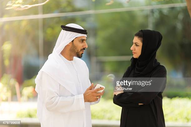 Arab Business Man and a Business Woman