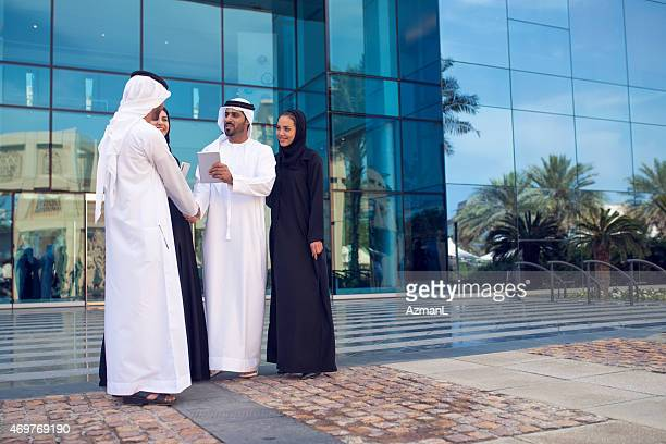 Arab Business Team Working Together