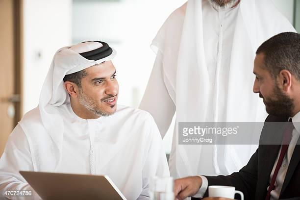 Arab businessman in office business meeting