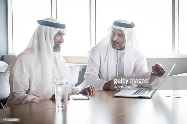 Arab businessmen in work meeting