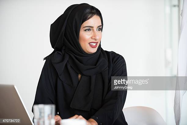 Arab businesswoman - candid portrait