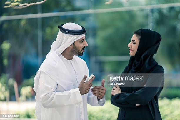 Arab Couple in Conversation