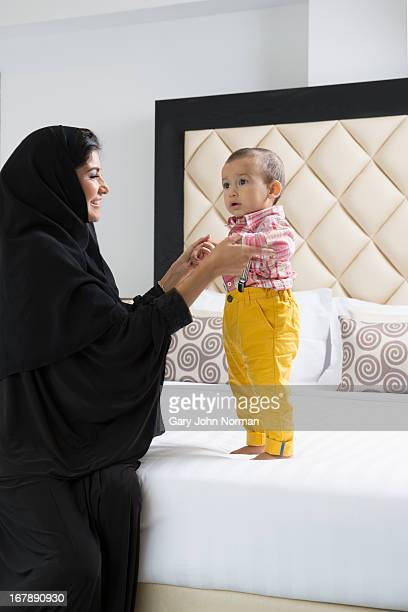 Arab culture mother and baby