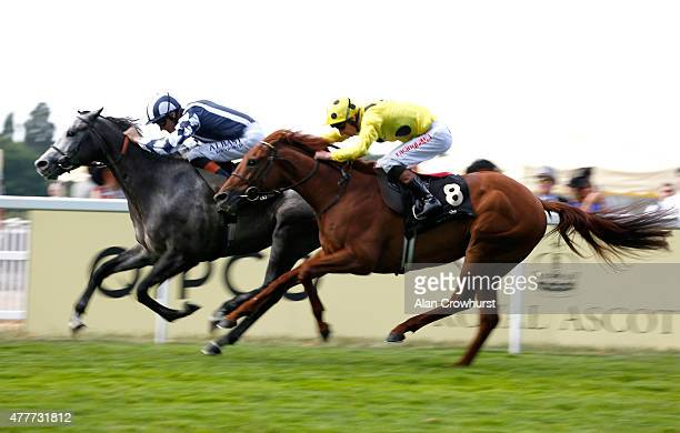 Arab Dawn ridden by Richard Hughes wins the Duke of Edinburgh Stakes during Royal Ascot 2015 at Ascot racecourse on June 19 2015 in Ascot England