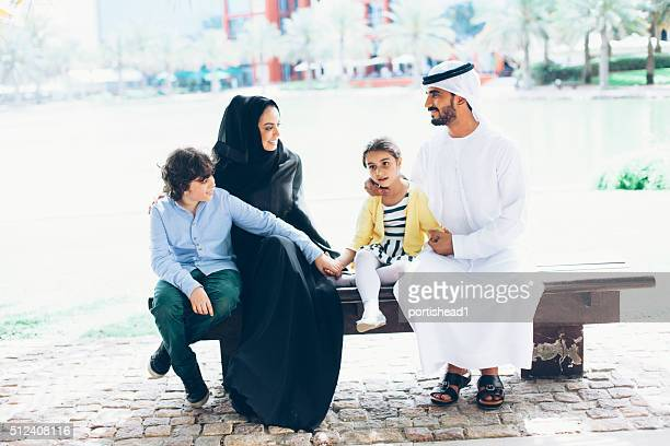 Arab family in the park