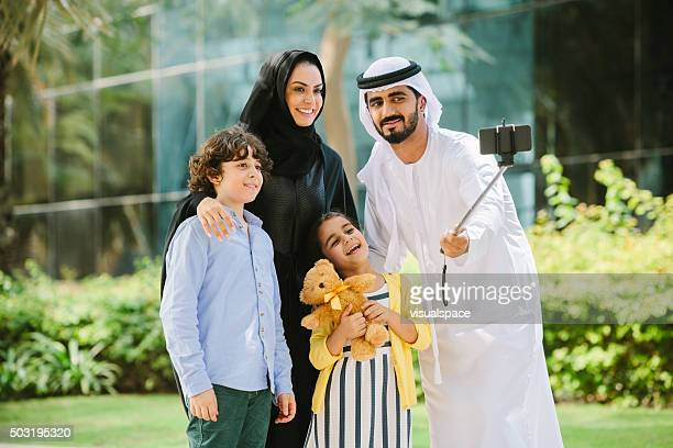 Arab Family Taking a Family Picture