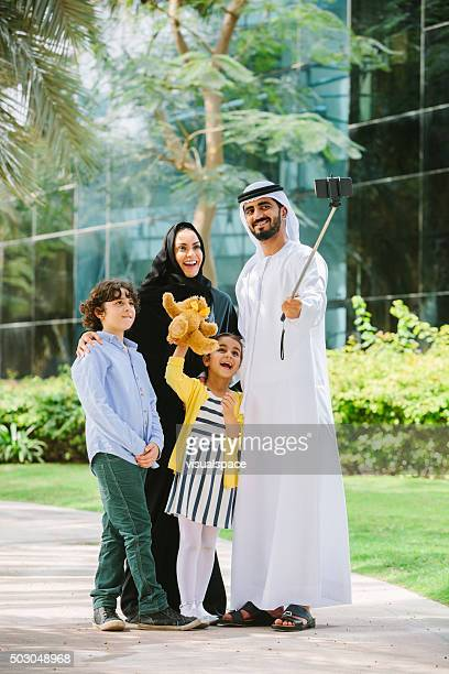 Arab Family Taking a Selfie