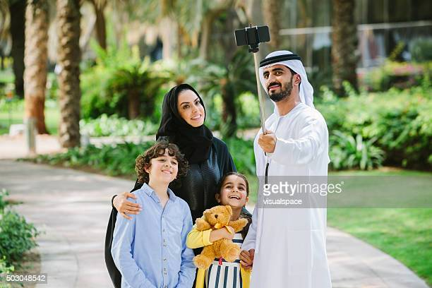 Arab Family Taking Pictures
