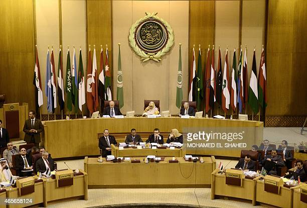 Arab foreign ministers meet at the Arab League headquarters in Cairo on March 9 2015 Arab League chief Nabil alArabi called for the creation of a...