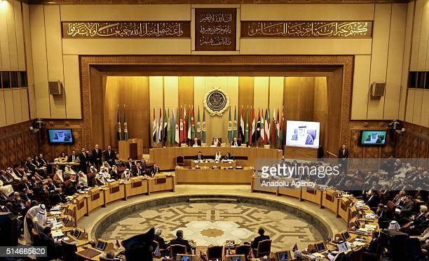Arab foreign ministers meeting held at Arab League's building in Cairo Egypt on March 10 2016