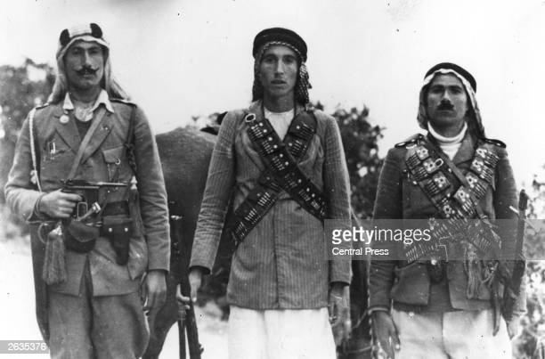 Arab guerrillas in the British mandate of Palestine during a period of unrest