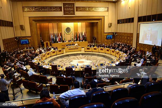 Arab League Foreign Ministers emergency meeting is held by the request of Palestinian President Mahmoud Abbas at the League's headquarters in Cairo...