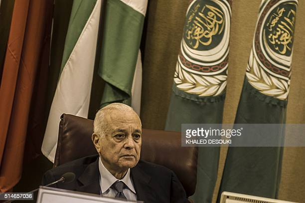 Arab League Secretary General Nabil alArabi attends a meeting of Arab foreign ministers to elect a new secretary general of the Arab League in the...