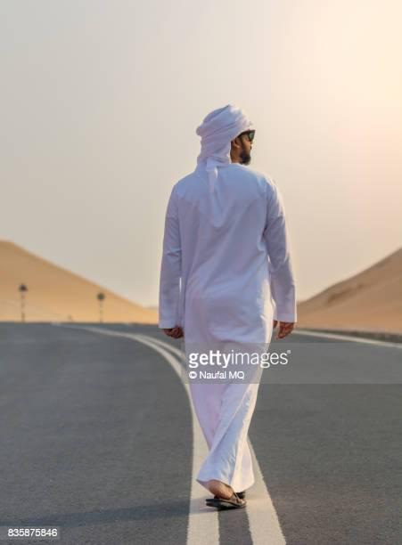 Arab man in desert, Abudhabi, United Arab Emirates