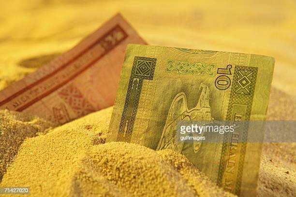 Arab Money on the sand