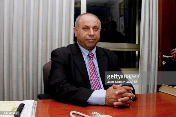 Arab Muslim Ghaleb Majadleh poses in his office at Knesset The Israeli government voted today to appoint Majadleh an Arab Muslim to the cabinet for...