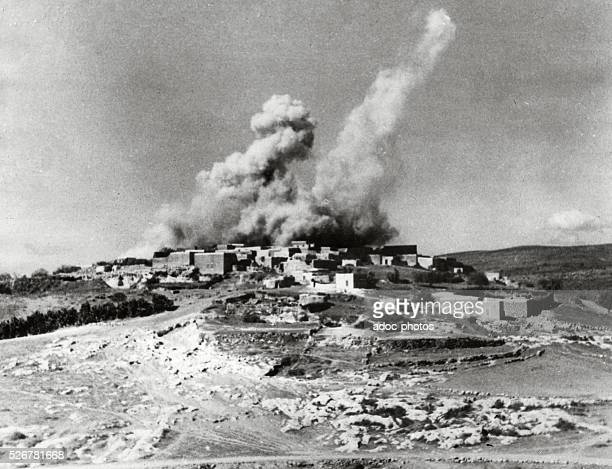 Arab revolt in Palestine Bombing of a Palestinian village by the British Army In 1938