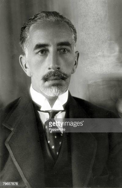 circa 1920's King Faisal I of Iraq the King of Iraq from 1921 intil his death in 1933