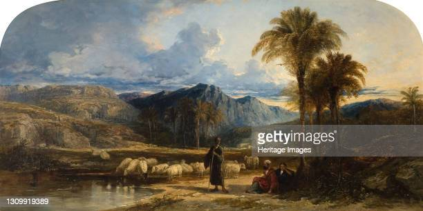 Arab Shepherds, 1842. Artist William James Muller. .