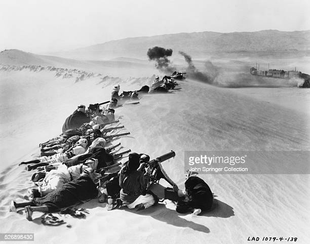 Arab Soldiers Attacking Train in Lawrence of Arabia