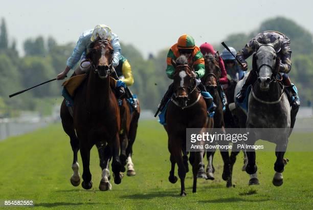 Arab Spring ridden by Ryan Moore beats Duke of Clarence ridden by David Nolan to win the sportingbetcom Jorvik Stakes during the Dante Festival 2014...