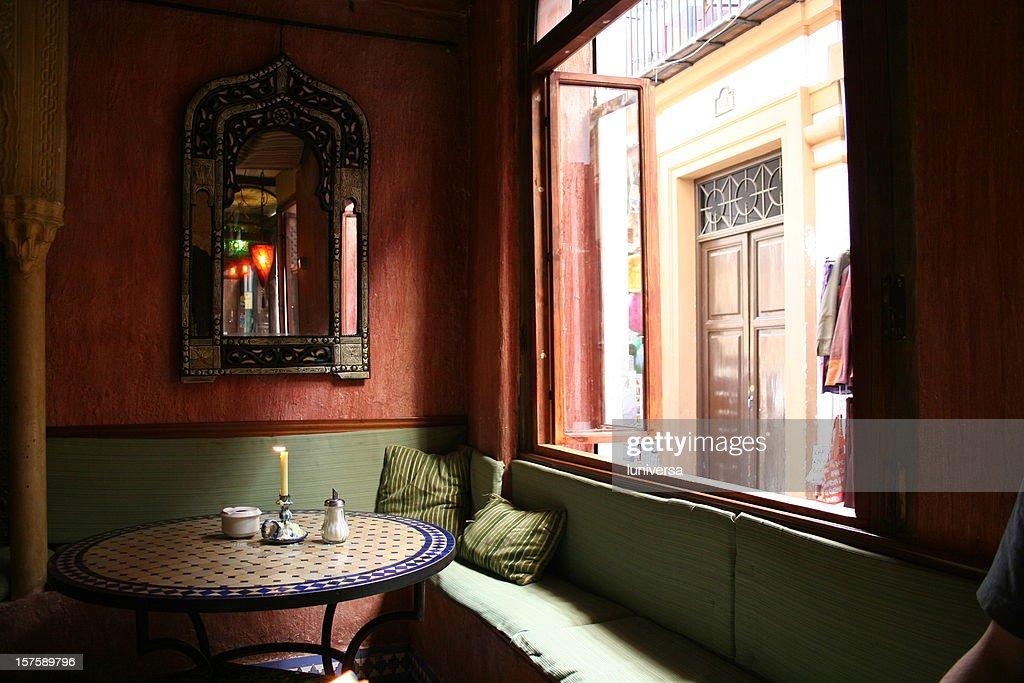Arab tea house in Granada : Stock Photo