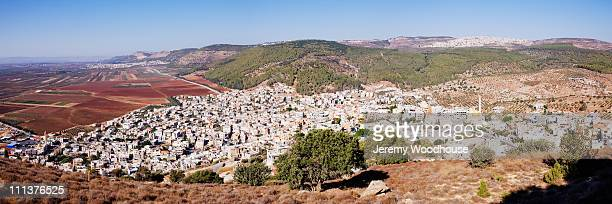 arab villages at the foot of mt tabor - jeremy woodhouse stock pictures, royalty-free photos & images