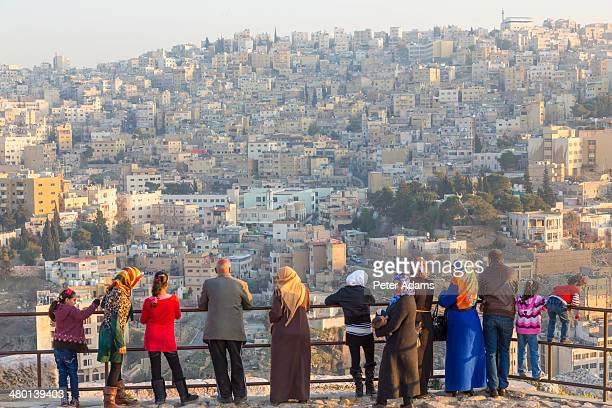 Arab visitors at The Citadel, Amman, Jordan