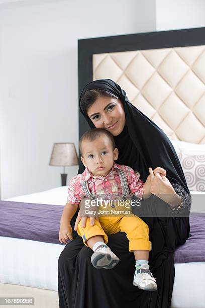 Arab woman and baby