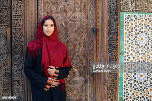arab woman in traditional clothing - north africa stock photos and pictures