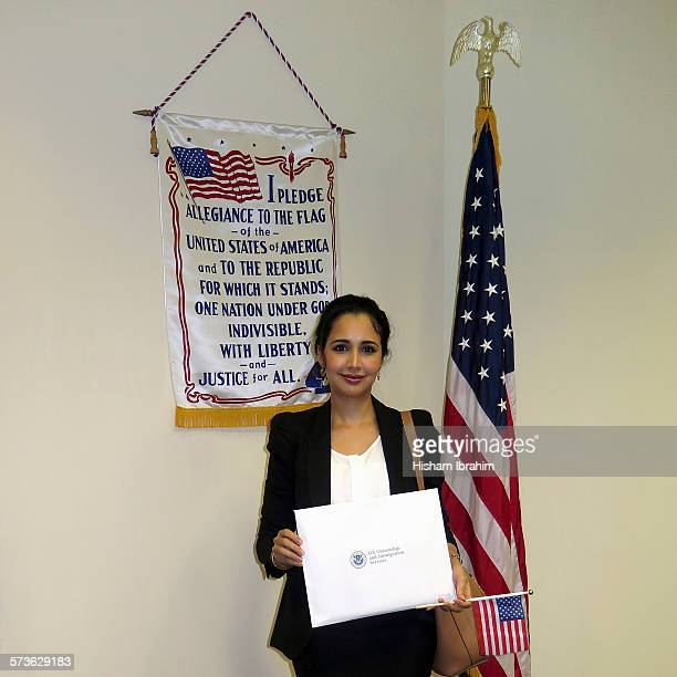 Arab Woman newly sworn citizen in United States
