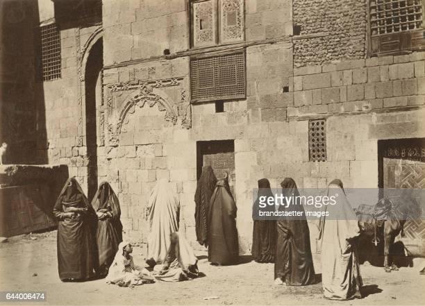Arab women on her way to the bath Algiers Algeria Journey to Tanger Oran Algér 1890 Albumen print Photograph Photo album from the estate of Empress...