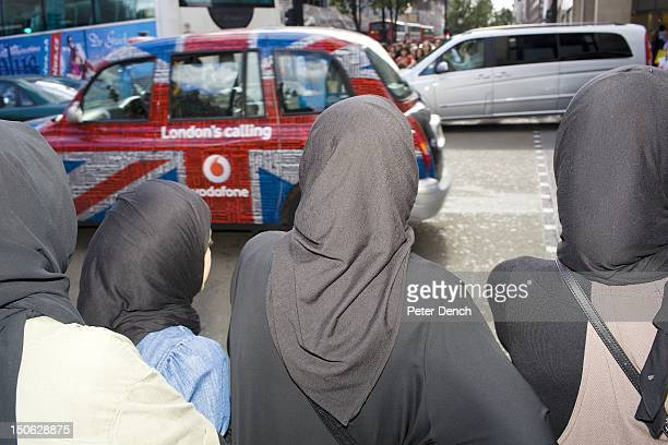 Arab women shop on London's busy Oxford Street one of the busiest in Europe Arabs have been visiting London for centuries and around 300000 Arabs...