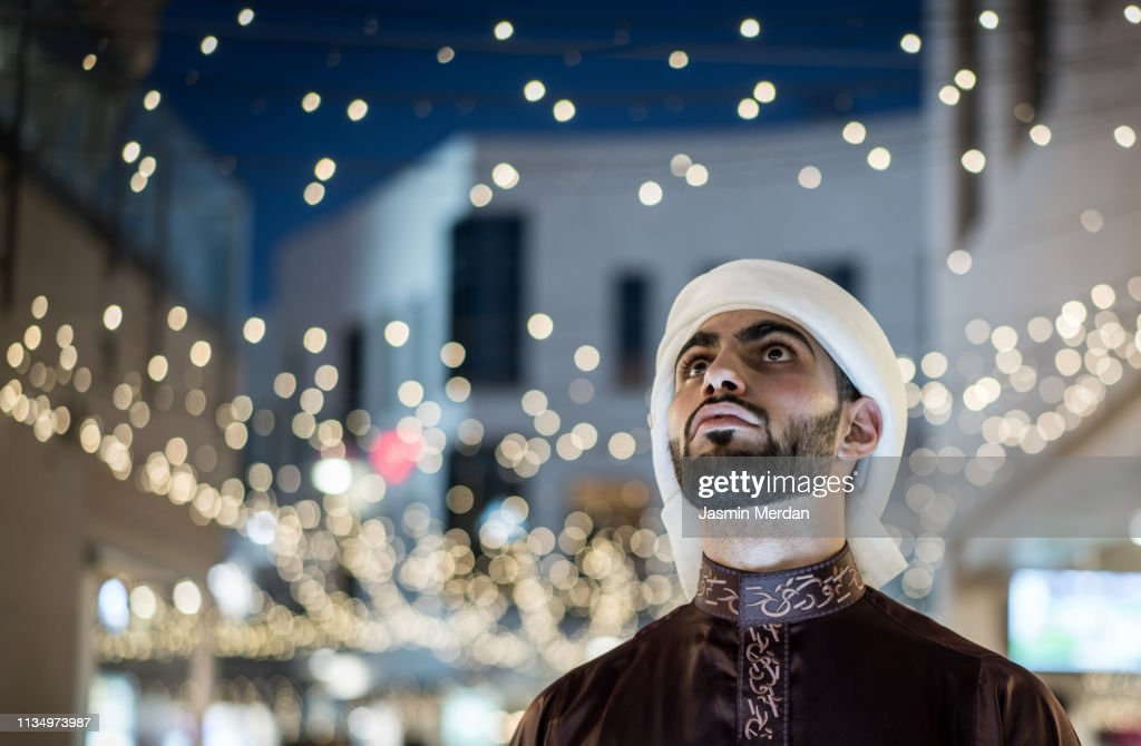 Arab young man in city : Stockfoto