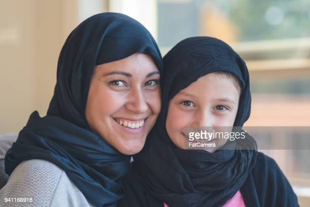 Arab-American Woman Poses With Her Young Daughter