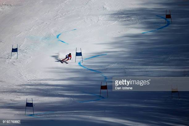 Arabella Caroline Yili Ng of Hong Kong competes in the Ladies' Giant Slalom on day six of the PyeongChang 2018 Winter Olympic Games at Yongpyong...